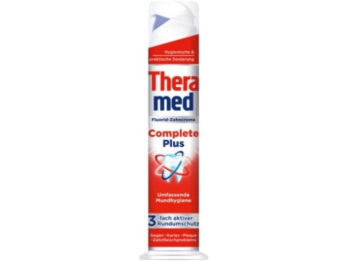 Thera-med Complete Plus dantų pasta su dozatoriumi 100ml