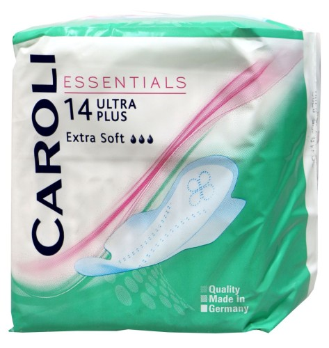 Caroli Essentials įklotai Ultra Plus, 14 vnt