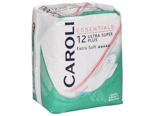 Caroli Essentials įklotai Ultra Super Plus, 12 vnt