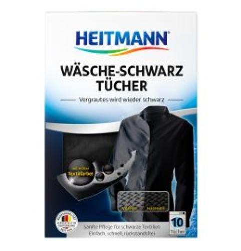 HEITMANN servetėlės juodos spalvos atnaujinimui, paryškinimui 10vnt